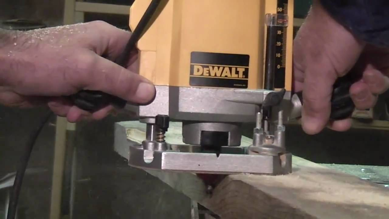 How to use a dewalt router youtube how to use a dewalt router keyboard keysfo Image collections