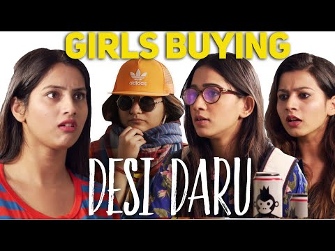 Types of Girls Buying Daru - Indian Girls at a Wine shop - O