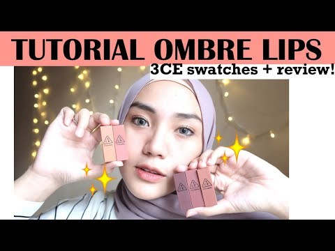 tutorial-ombre-lips-+-3ce-swatches-and-review-|-raniekarlina