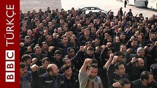 Metal işçileri grevde: '1400 liraya bir ay çalışın, halimizi anlayın' - BBC TÜRKÇE
