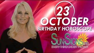 Birthday October 23rd Horoscope Personality Zodiac Sign Scorpio Astrology