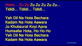 Yeh Dil Na Hota Bechara - Kishore Kumar Hindi Full Karaoke with Lyrics