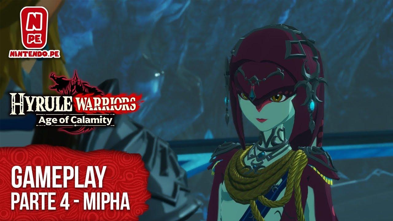 Hyrule Warriors Age Of Calamity Gameplay Parte 4 Mipha La Princesa Zora Nintendo Switch Youtube