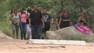 A family is swept away in a flash flood Sunday near Payson