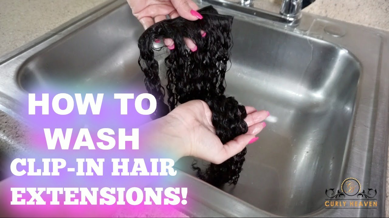 How To Wash Restore Clip In Hair Extensions Curly Heaven Youtube