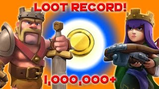 Clash of Clans - EPIC Loot 1 MILLION+ 1,000,000 loot with BARCH?!