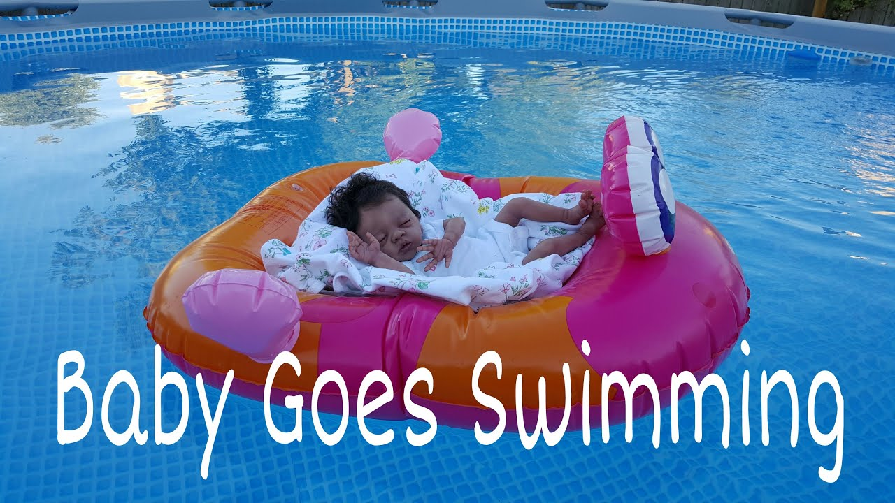 Preemie Baby Goes Swimming Bad Mom Reborn Baby Doll In Pool Realistic Lifelike Baby Doll