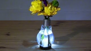 How To Make A Light Bulb Vase