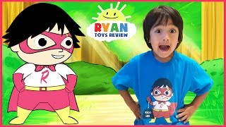 SUPERHERO KID RYAN TOYSREVIEW CARTOON! Ryan Saves Gus! Animation video for Children