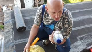 Покрытие крыши битумом и рубероидом. Часть1 (08.09.2016. )(, 2016-09-08T22:35:13.000Z)