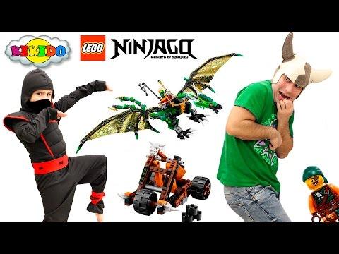 Лего Ниндзяго Зеленый Дракон Ллойда 70593. Приключения Ниндзя. Обзор Лего Ниндзяго 2016. Кикидо