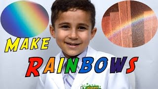 Make a Rainbow by Refraction Easy Kid Science Experiment you c…