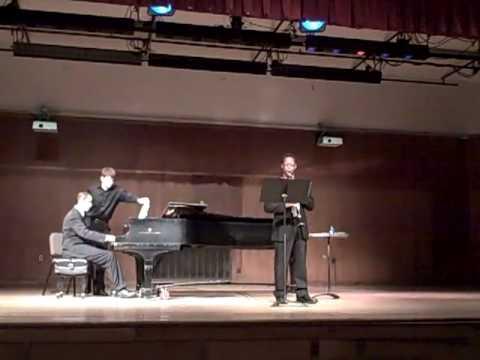 Rashad performs Sonata for clarinet & piano, Op. 1...