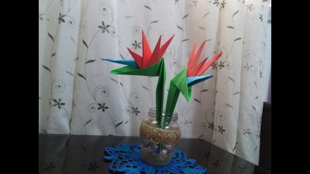 origami bird of paradise flower instructions