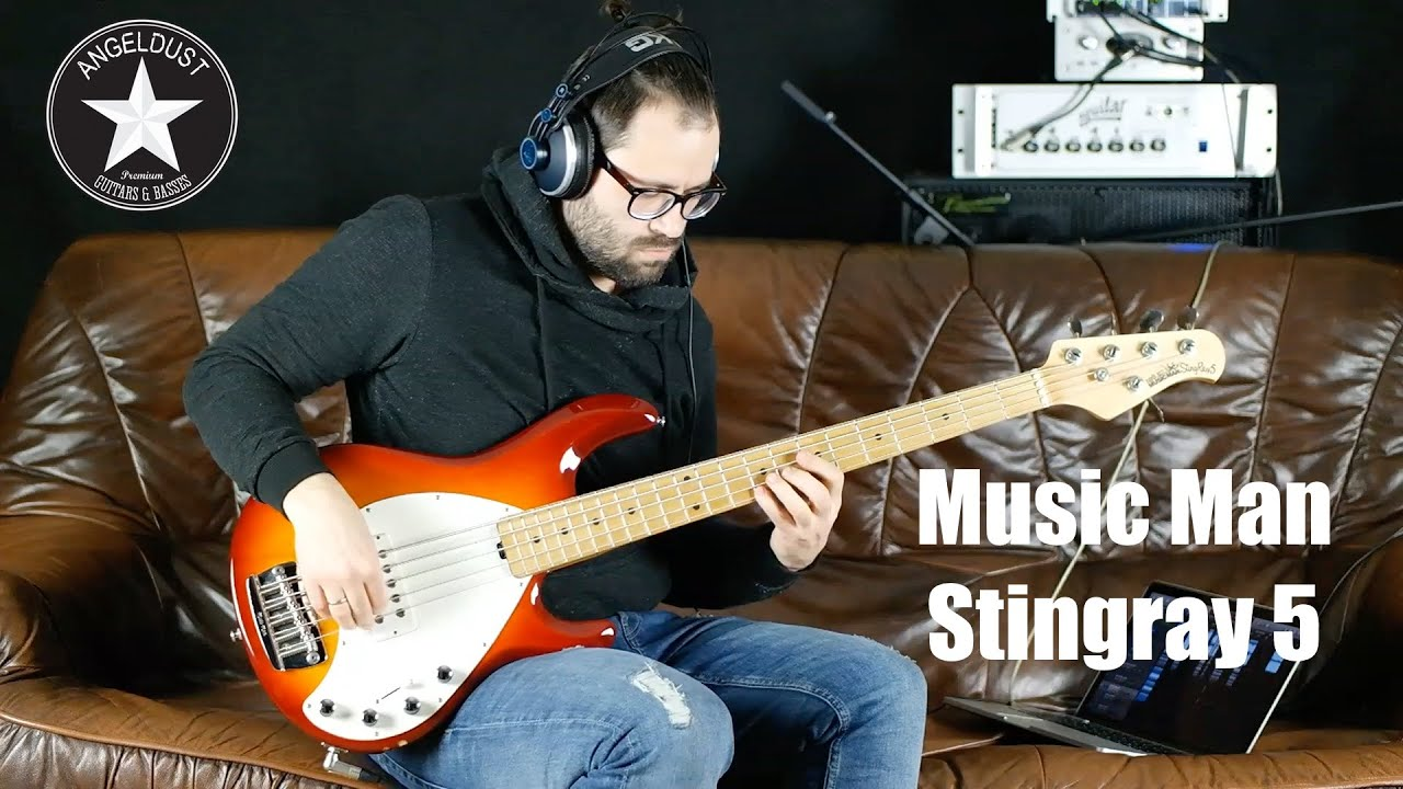 music man stingray 5 bass angeldust review youtube. Black Bedroom Furniture Sets. Home Design Ideas