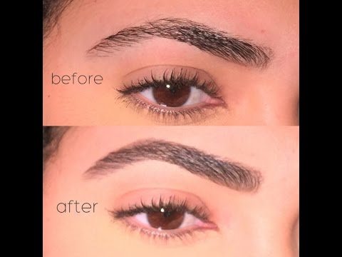 Eyebrow Tutorial Using Nyx Eyebrow Cake Powder Youtube