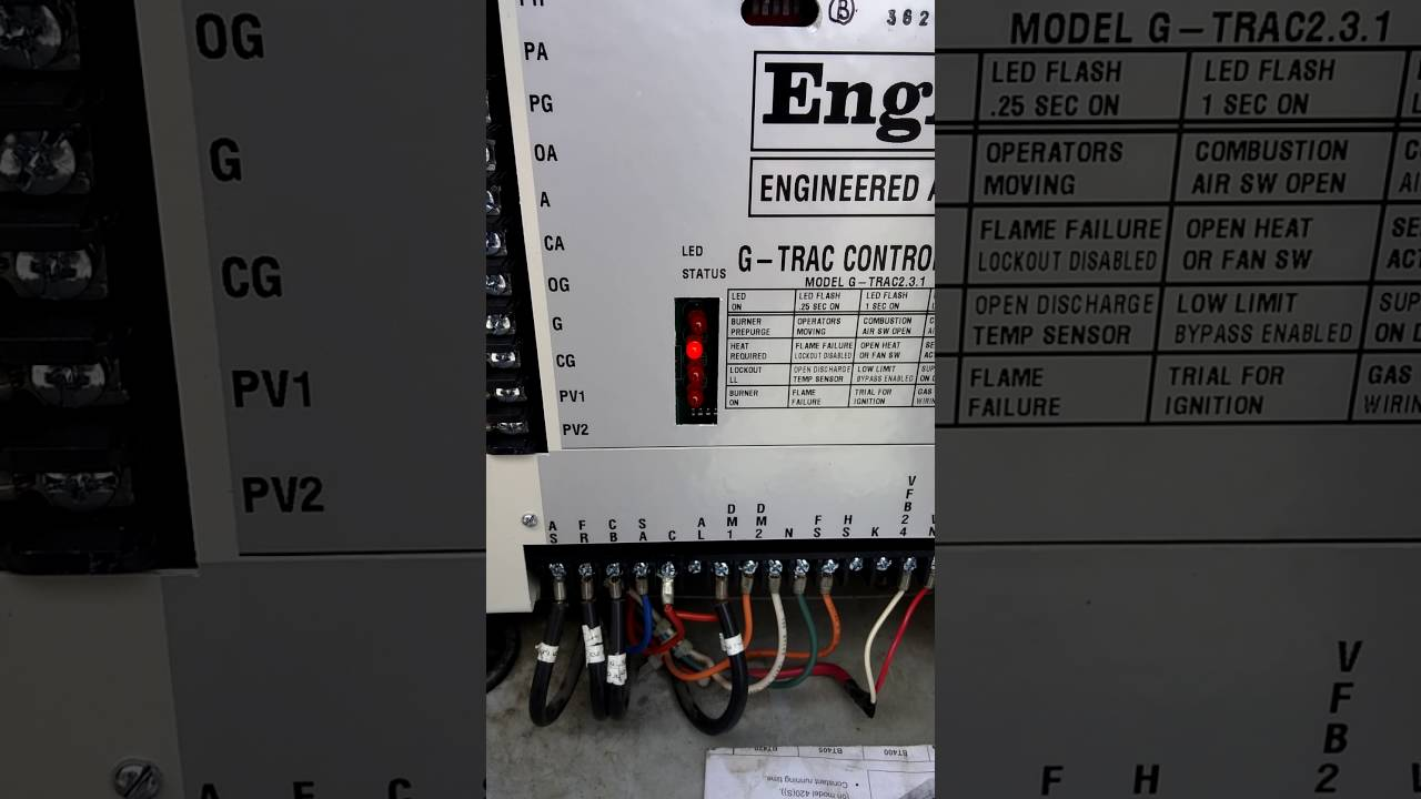 ENGINEERED AIR ENG A G-TRAC CONTROLLER 2.3.1 G TRAC GAS BURNER ...