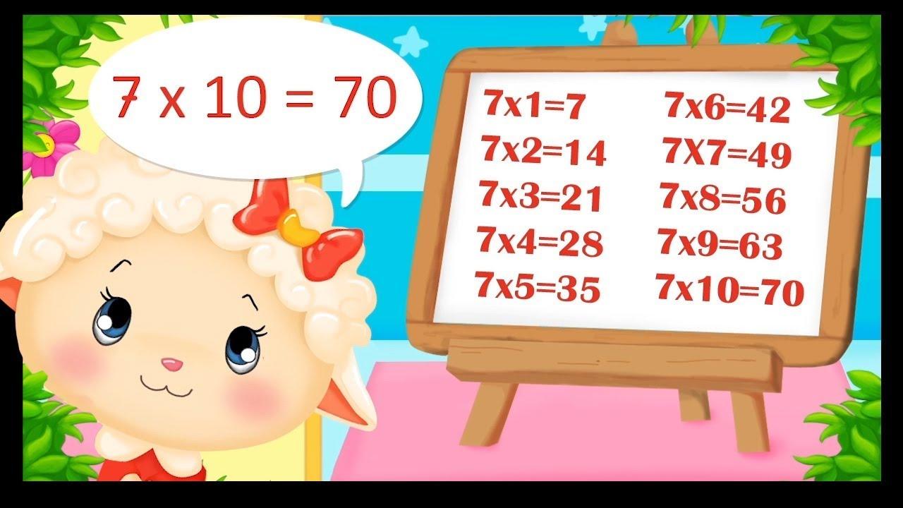 La table de 7 apprendre les multiplications en chanson titounis youtube - Chanson table de multiplication ...
