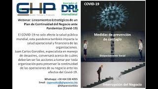 Lineamientos Estratégicos de un Plan de Continuidad del Negocio ante Pandemias (Covid-19)