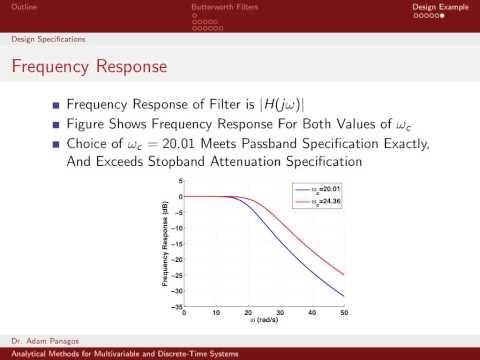 Butterworth Filter - 04 - Design Example