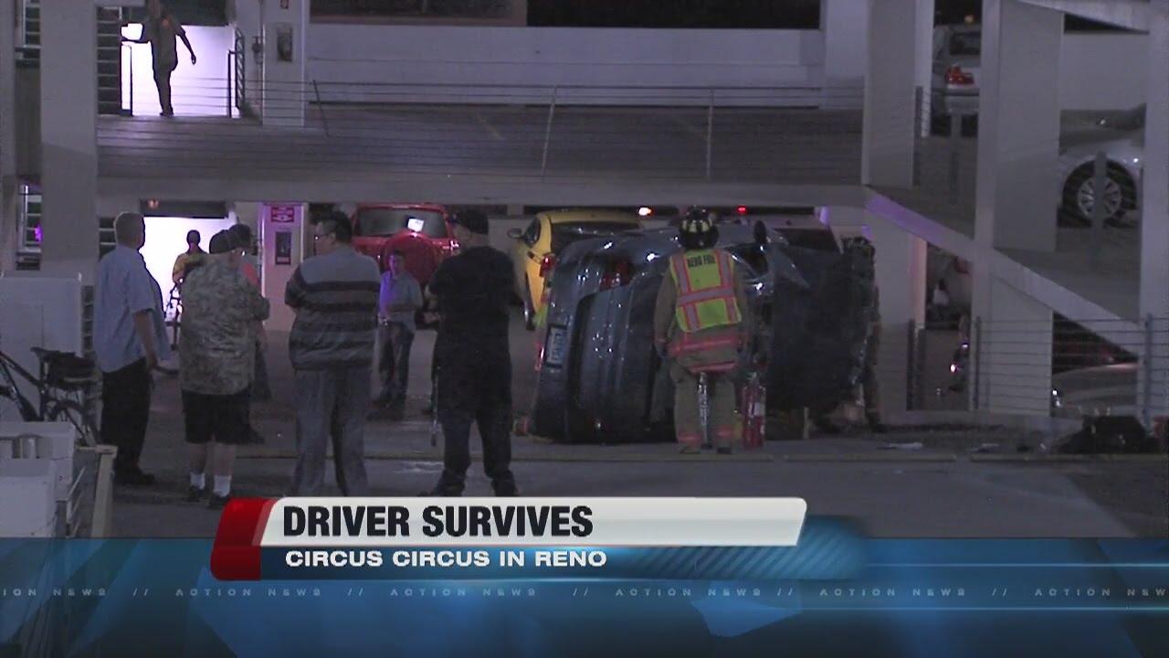 Car drives off of level in circus circus parking garage for Garage dm auto livry gargan