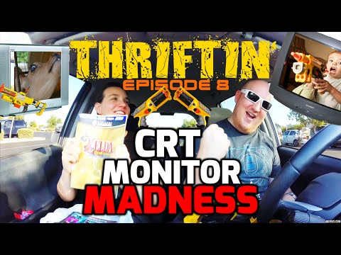 Thrift Store Hopping: Episode 8 - CRT MONITOR MADNESS!