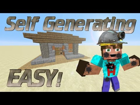 How To Make A Charcoal Generator In Minecraft | Automatic Charcoal Farm | Automatic Redstone Farm