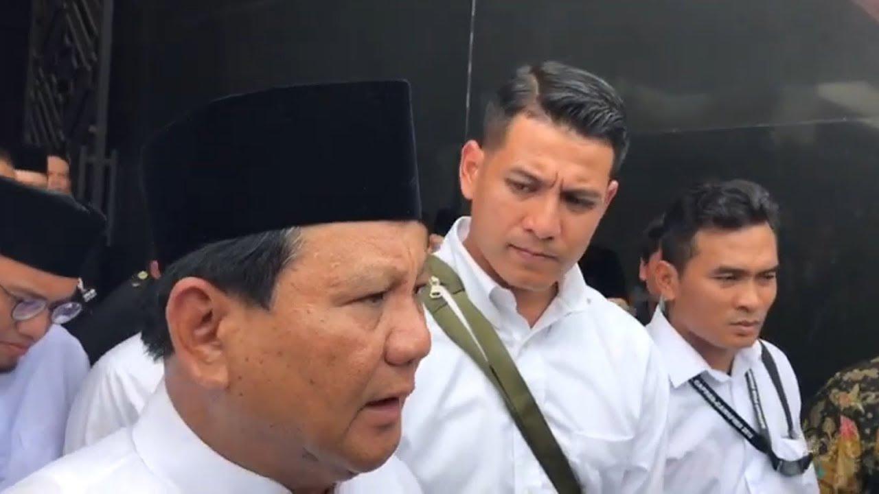 Ucapan Bela Sungkawa dari Prabowo Pada Korban Tsunami Selat Sunda