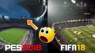FIFA 18 Vs. PES 2018   Stadiums, Legends, Player Face   Graphics Comparison