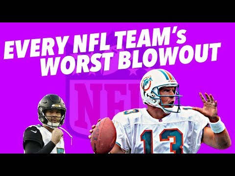 Every NFL Team's WORST BLOWOUT LOSS - Crazy Stats And Sadness
