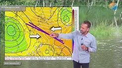 Aktuelle Wettervorhersage für den 14. Juni: Konvergenz mit Starkregen, Gewittern zieht nach Westen.