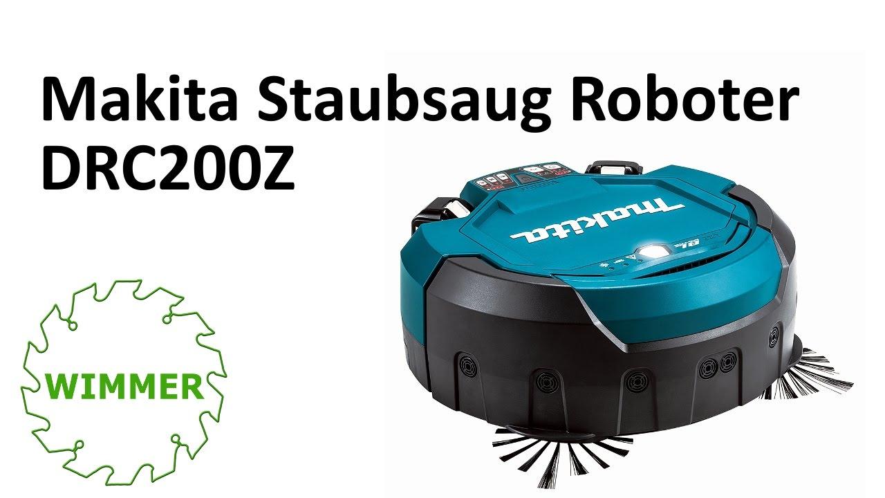 MAKITA STAUBSAUGER ROBOTER DRC200Z - YouTube