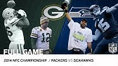 Packers vs. Seahawks: 2014 NFC Championship Game   Aaron Rodgers vs. Russell Wilson   NFL Full Game