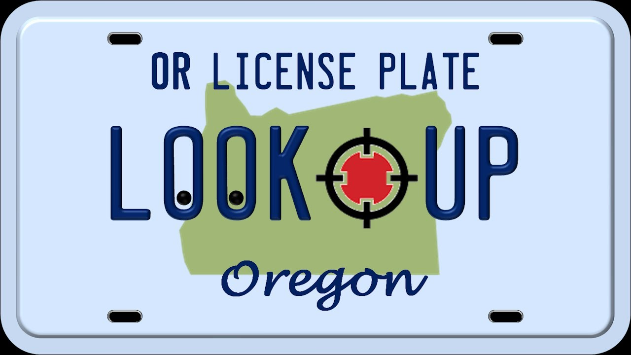 How To Perform an Oregon License Plate Lookup - YouTube
