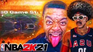 FLIGHTREACTS & HOLLYWOOD TW BEAT 11 STREAK ON NBA 2K21! BEST SCORING GUARD BUILD ON 2K21!
