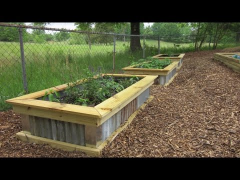 DIY Homemade Raised Garden Bed YouTube