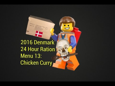 Denmark 24 Hour MRE Review: Menu 13 (Chicken Curry With Pasta) Danish Freeze-Dried Ration Taste Test