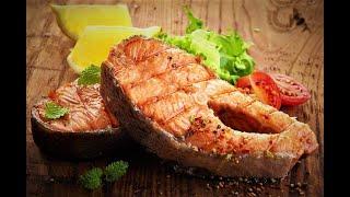 Стейк из лосося на мангале