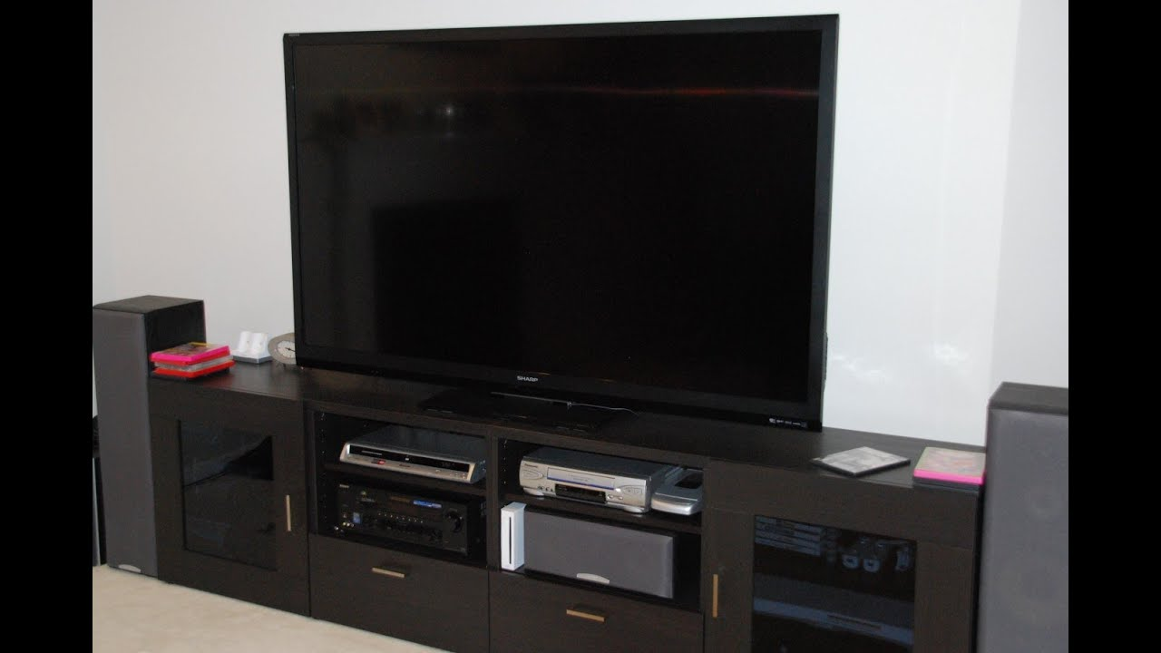 sharp 70 lcd tv to replace old panasonic 53 rear. Black Bedroom Furniture Sets. Home Design Ideas