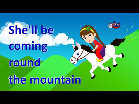 She'll Be Coming Round The Mountain | Learn Transport Vehicles for Children
