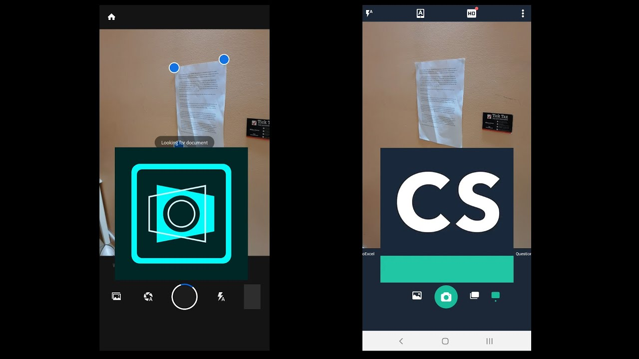 Adobe Scan vs Cam Scaner