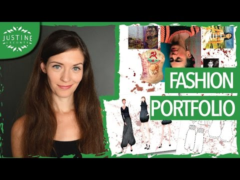 How To Create A Fashion Portfolio Tutorial Parsons Fashion Design Major Justine Leconte Youtube