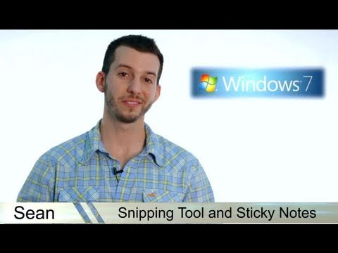 Learn Windows 7 - Sticky Notes And Snipping Tool