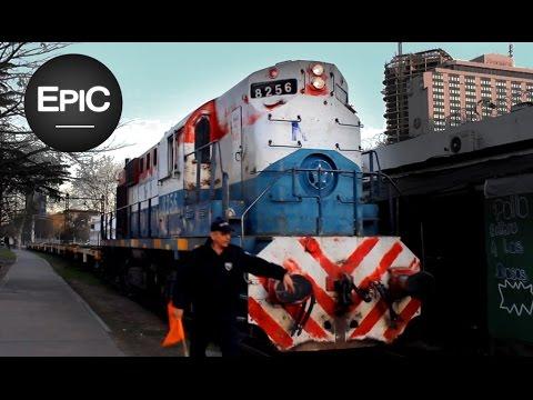 Trenes en playas ferroviarias de Centro, Retiro y Puerto Madero - Buenos Aires, Argentina (HD)