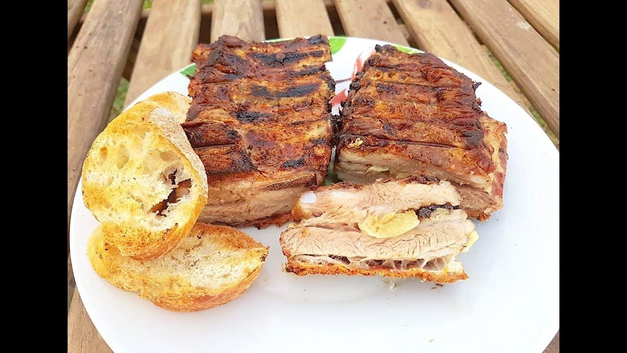 Свиные  рёбра томлёные на углях! Мясо просто растаяло в рту и жевать не пришлось!
