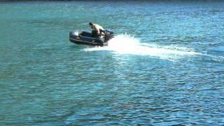 test barca ZODIAC 3 10 motor 15CV ALBERT