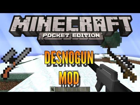 DesnoGUNS - MOD - Minecraft PE - 0.15.0/0.16.0 - DOWNLOAD
