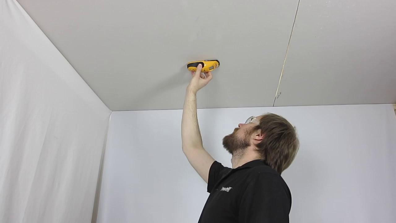 Speaker install, check above ceiling