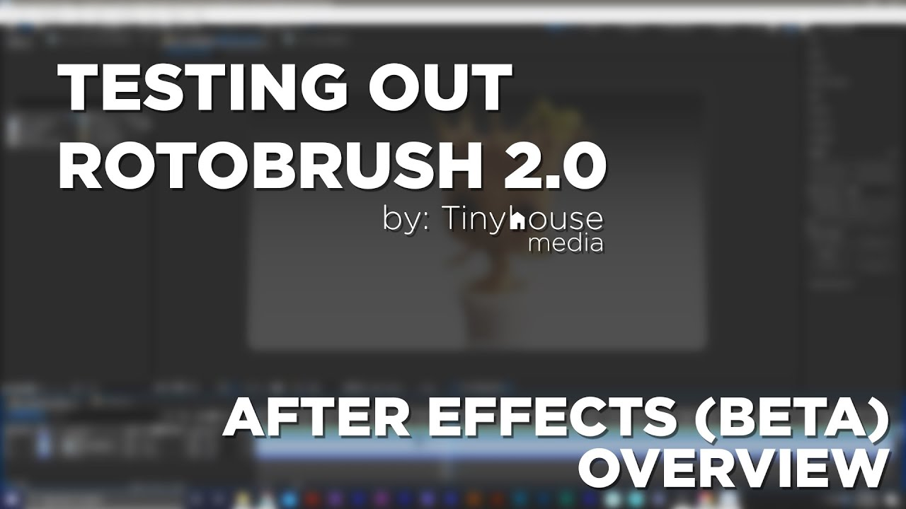 Testing out Rotobrush 2.0 in After Effects (Beta)