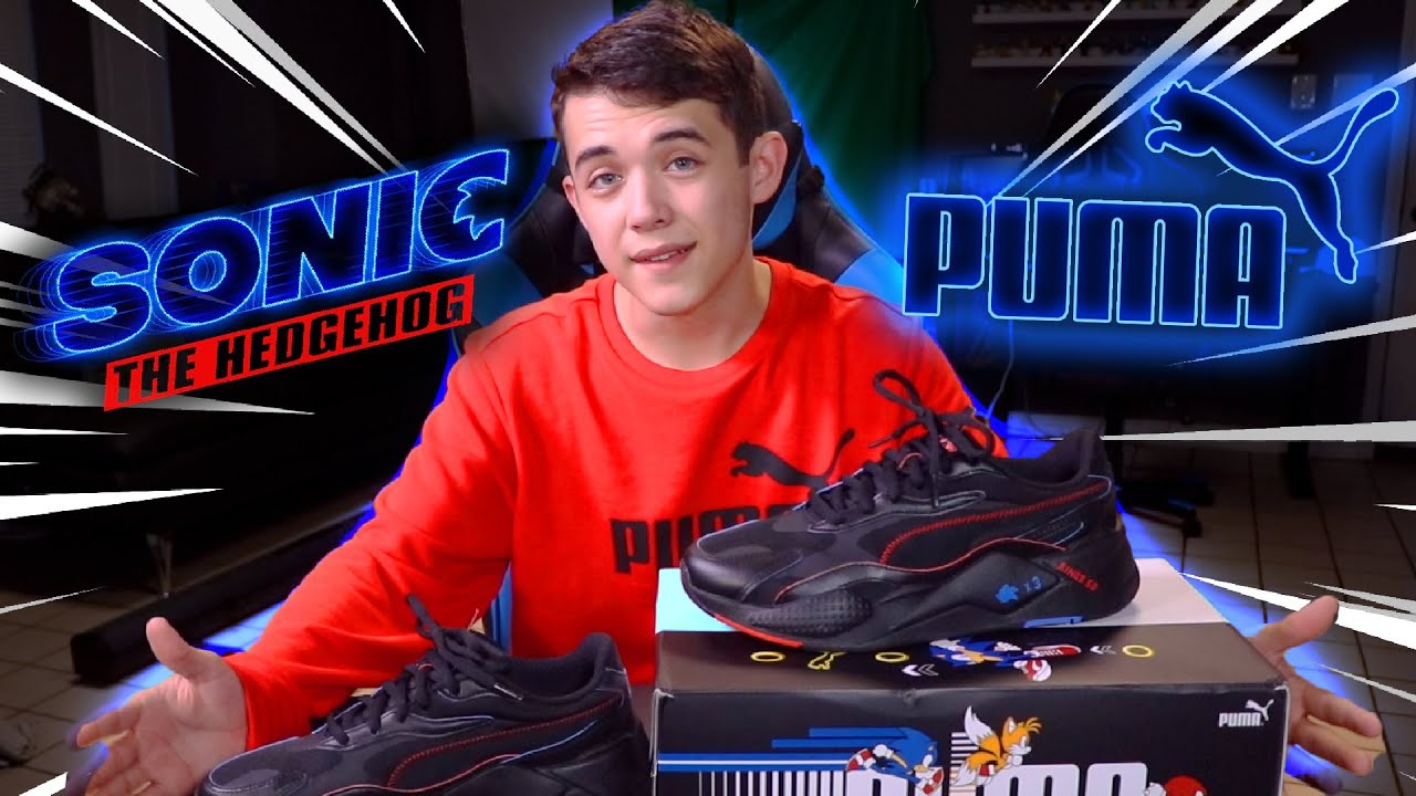 Unboxing New Sonic X Puma RS X Sneakers!!!